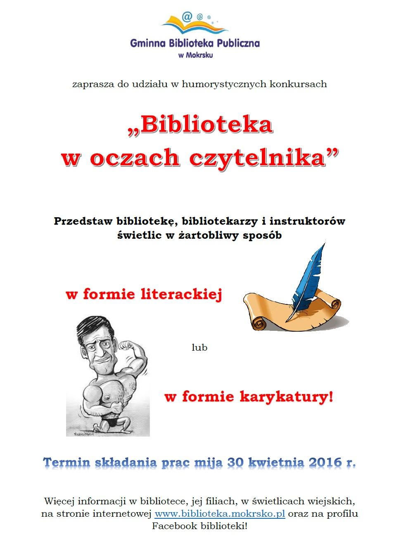 """Więcej o: Zaproszenie do udziału w konkursach """"Biblioteka w oczach czytelnika""""!"""