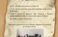 Więcej o: Zaproszenie na lekcję historii ze Świetlicą Wiejską w Chotowie