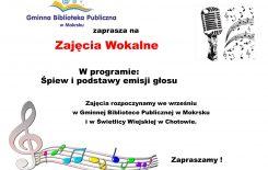Więcej o: Ruszają zajęcia wokalne