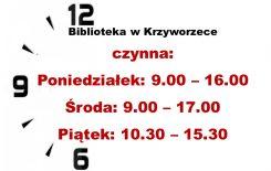 Więcej o: Filia Biblioteczna w Krzyworzece otwarta!!!